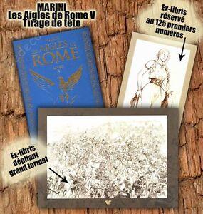 Tirage-de-Tete-Enrico-MARINI-Les-Aigles-de-Rome-Livre-5-signe-2-ex-libris