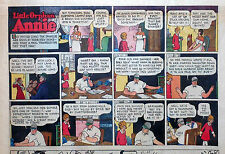 Little Orphan Annie by Gray - large half-page color Sunday comic - Nov. 28, 1943