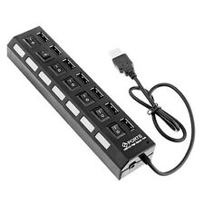USB 2.0 7-Port Multi HUB Splitter Expansion Adapter With OFF /ON  witch For PC