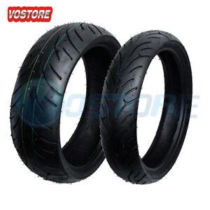 Front Rear Max Motosports Motorcycle Tires 120 70 17 180 55 17 Ebay