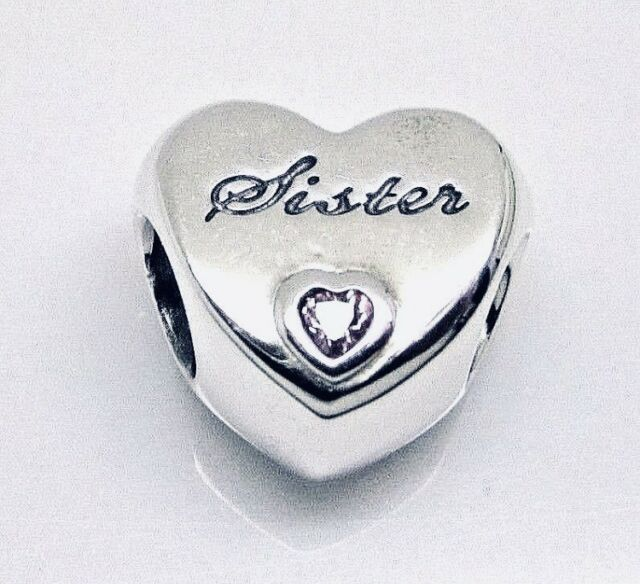 ea0b5f5e8 Authentic PANDORA SISTER'S LOVE Charm #791946PCZ W/ Pandora TAG & HINGED BOX