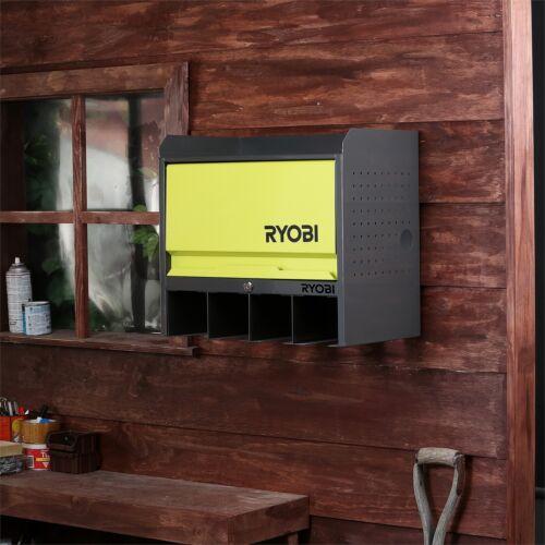Ryobi Lockable Door Hanging Wall Tools Storage Box