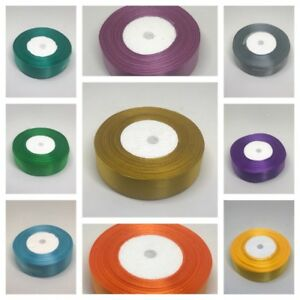 By The Metre in Gold FREE DELIVERY Double Sided Satin Ribbon 10mm 25m Reel