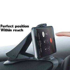 Antiskid-Car-Phone-Holder-Clip-HUD-Dashboard-Adjustable-Mount-Universal-Black
