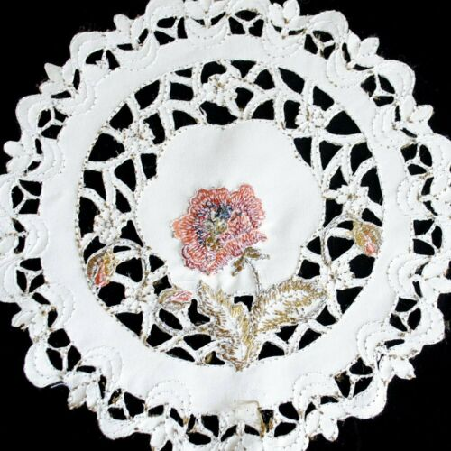 Embroidered Floral Lace Dining Table Runner Mat Doilies Wedding Party Home Decor