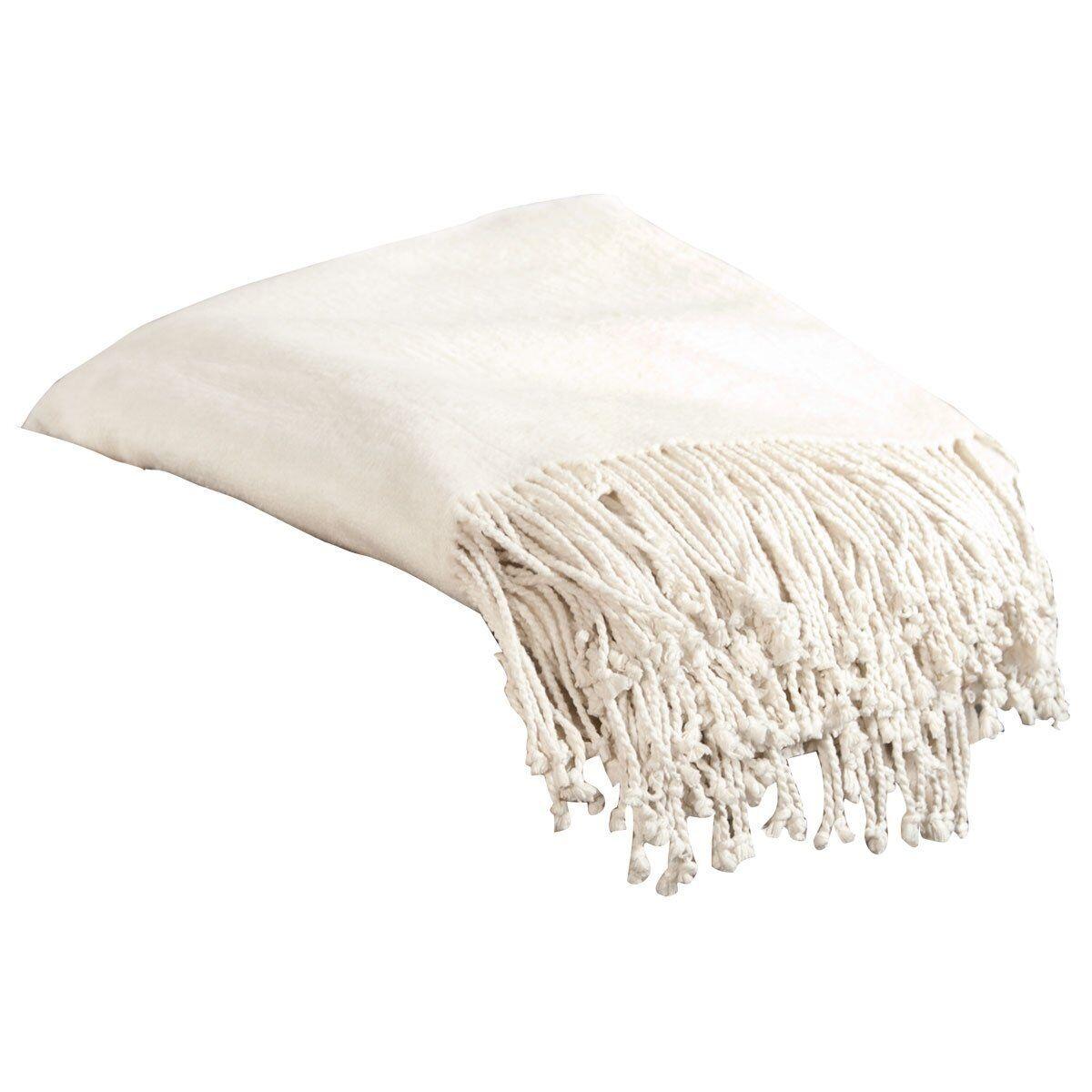 Aus Vio BM12124 100-Percent Silk Fleece Throw Blanket