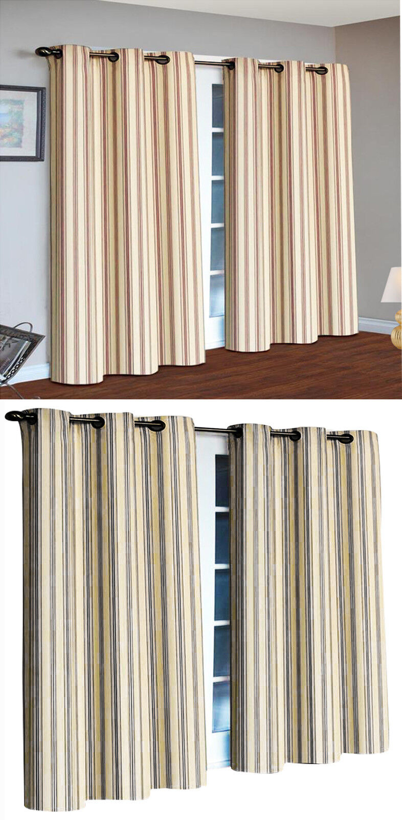 Skylinewears grommet top stripe curtains thermal insulated for Thermal windows prices