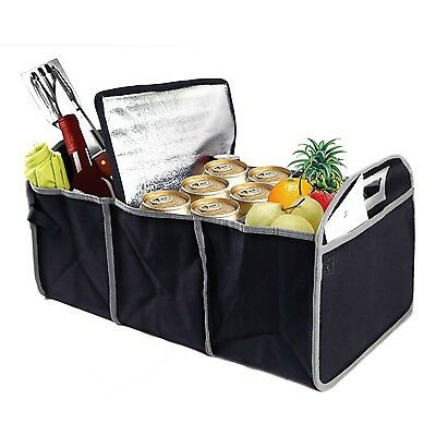Portable Collapsible Trunk Organizer w/ Cooler Fold Flat Car Truck SUV US seller