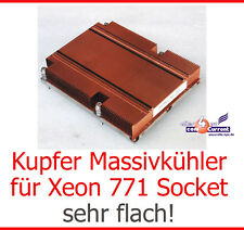MASSIVER KUPFER KÜHLER FÜR XEON CPU PASSIV LGA771 FSC BX620 S3 SOCKET 771 COOPER