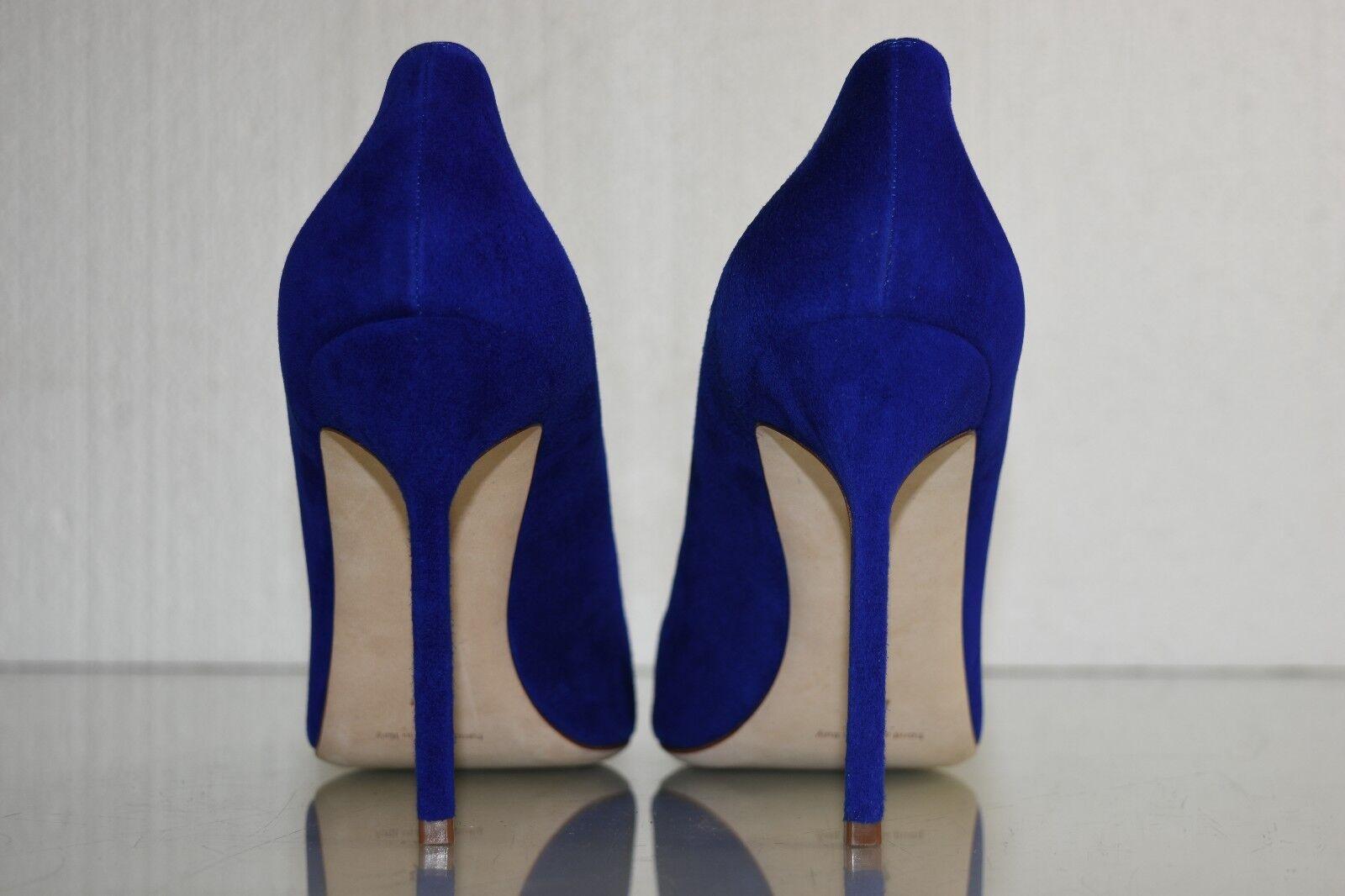 Neu Manolo Blahnik Bb Bb Bb 105 Blau Wildleder Absätze Königsblau Kobalt Pumps Schuhe 7d5b58