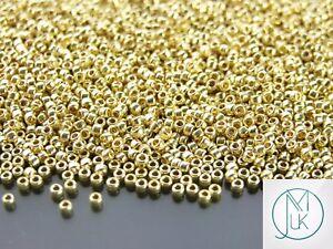 250g-PF559-PermaFinish-Galvanized-Yellow-Gold-Toho-Seed-Beads-11-0-2mm