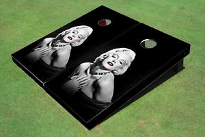 Custom Marilyn Monroe Custom Cornhole Board