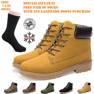 Mens Work Safety Shoes Leather Boots Hard Toe Cap Ankle