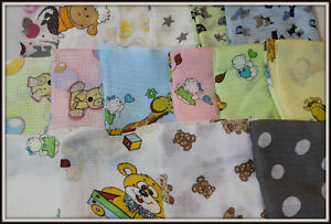Owl Pink Muslin White Squares 70 x 80cm 100/% Cotton  Nappies Pieluchy Tetrowe