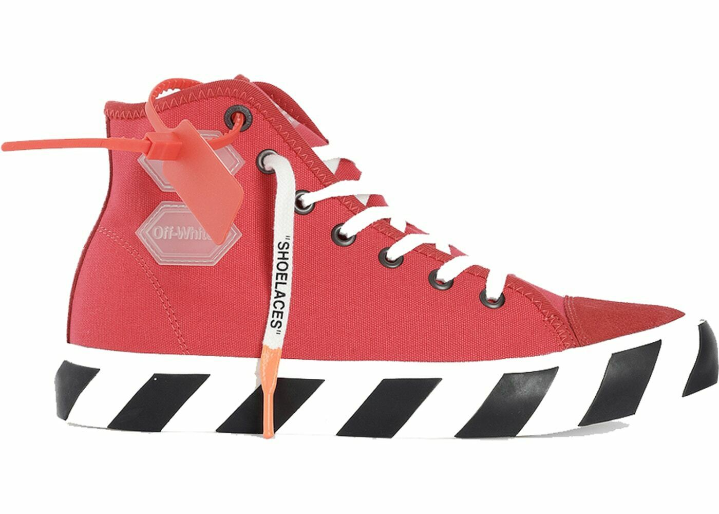 OFF-WHITE Vulc Hi Top Red Size 10.5. SKU  OMIA110R19C21035-2098 Virgil Abloh