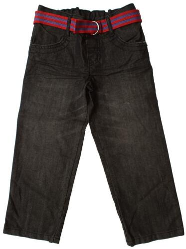 Boys Jeans Classic Fit /& Belt Faded Denim Straight Leg 12 Months to 7 Years