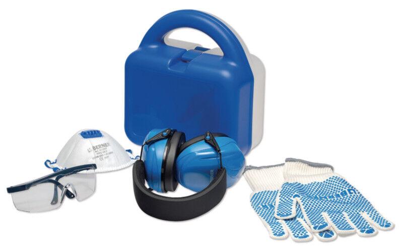 Berner Safety Box Sicherheitskoffer m. Gehörschutz Schutzbrille Maske Handschuhe