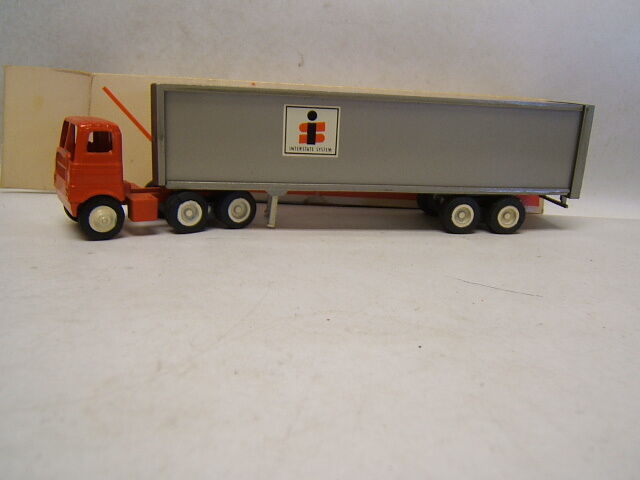 Winross Interstate System Tractor Trailer White 5000 Cab MIB 1/64 Diecast