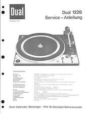 Dual Service Manual für 1226