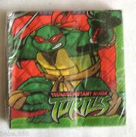 Ninja Turtles 16- Green Paper Dessert Napkins, Birthday Party Supplies