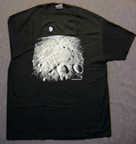 LUNAR MOONSCAPE ASTRONOMY T-SHIRT.  ADULT XL.  NEW IN PACKAGE.  SPECIAL PRICE.