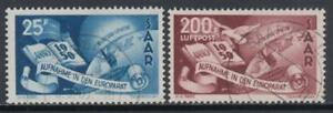 GERMANY-France-occ-SAARLAND-MI-297-298-cv-400-used