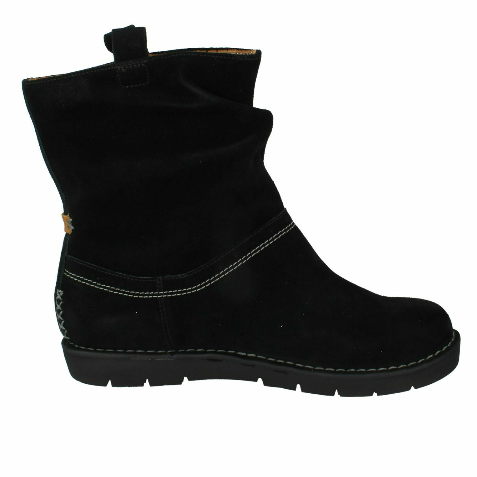 UN ASHBURN LADIES CLARKS UNSTRUCTUrot PULL ON FLAT CASUAL WIDE WIDE WIDE FIT ANKLE Stiefel 6a65ef