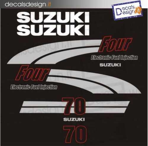 Adesivi motore marino fuoribordo Suzuki 70  four stroke gommone barca stickers