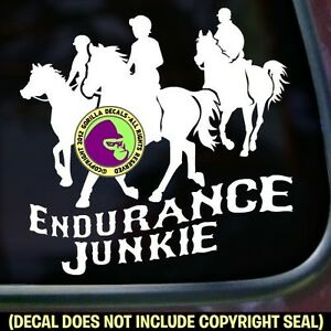 MILE IS SMILE Endurance Riding Rider Horse Car Window Sign Vinyl Decal Sticker