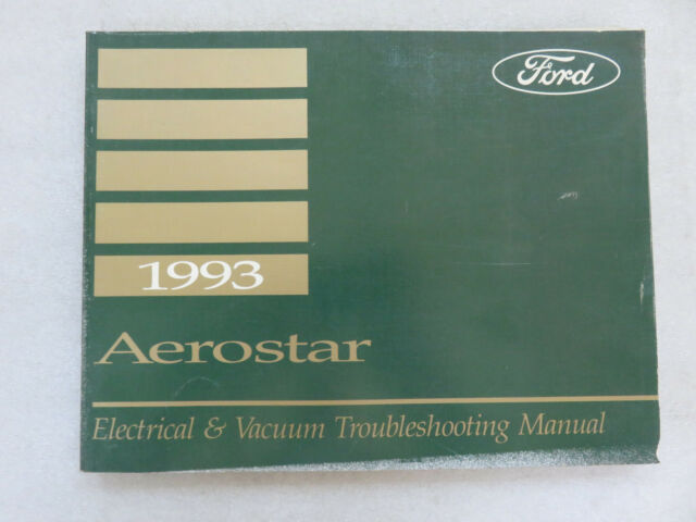 1993 Ford Aerostar Electrical Wiring Diagrams Service