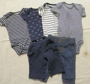 Baby Boy S Clothing Lot 6 Pieces 0 3 Month Onsies Pants Ebay