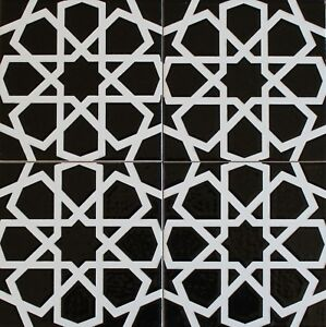 Image Is Loading Turkish Iznik Raised Black Amp White Geometric Pattern