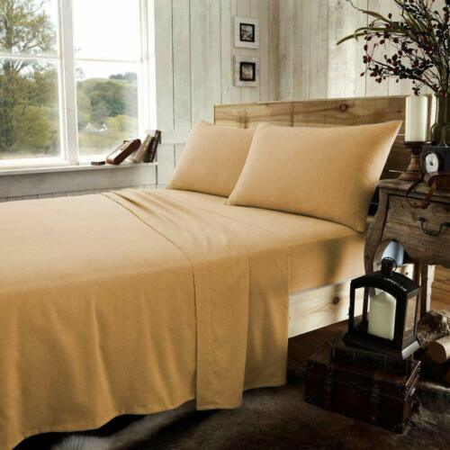 """BRUSHED COTTON THERMAL FLANNELETTE EXTRA DEEP FITTED SHEET 16/""""//40 CM WARM SOFT"""