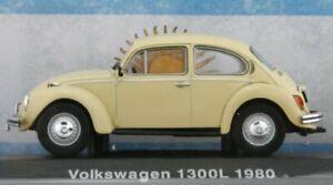 VW Volkswagen Käfer / Beetle 1300L - Argentina 1980 - lightyellow - Atlas 1:43