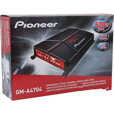 PIONEER GM-A4704 AMP 4-CHANNEL 520W COMPONENT SPEAKERS TWEETERS STEREO AMPLIFIER