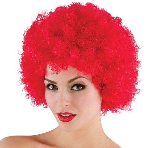 Funky Afro Curly Perm Wig 1970s 70/'s Disco Cop Womens Mens Fancy Dress Costume