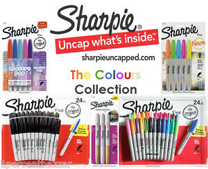 SHARPIE Colour Markers Gold Silver Bronze Marker Pen Texta Fine Point