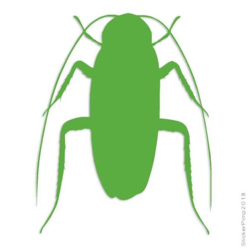Roach Insect Pest Bug Decal Sticker Choose Color Size #2900