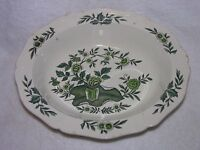 """Wedgwood Green Leaf Oval Serving Bowl Great Condition! 9 3/4 X 2"""""""