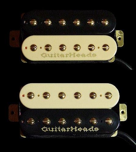 ZEBRA Bridge Neck SET 2 Guitar Parts GUITARHEADS PICKUPS GOLD RUSH HUMBUCKER
