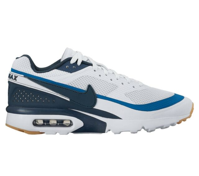Nike Air Max BW Ultra Mens 819475-100 White Armory Navy Running Shoes Size  10.5 dc8d3ed1cccd