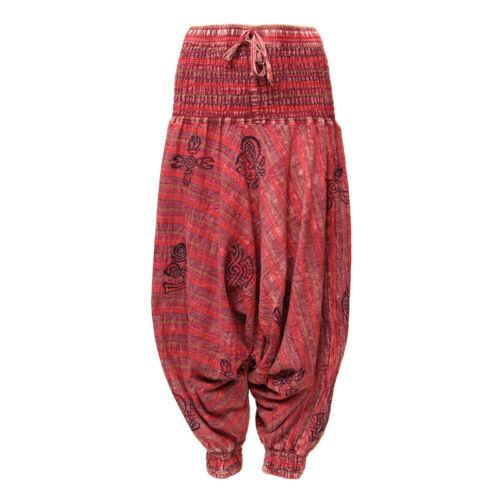 Sarouel Pantalon Baggy d/'Entrejambe Tombant Aladdin Hippie Festival