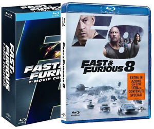 fast and furious collezione completa 01 08 8 blu ray vin diesel ebay. Black Bedroom Furniture Sets. Home Design Ideas