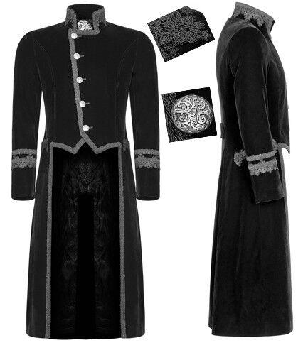Gothic Dandy Victorian Military Embroidered Velvet Coat Tuxedo VTG PunkRave Men