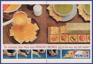 Vintage 1960 Premium Saltine Crackers Kitchen Art Decor Rare Print Ad 1960 S Ebay