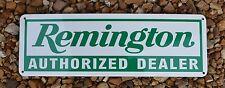 Remington Auithorized Dealer Firearm Shotgun Rifle Advertising Logo Sign