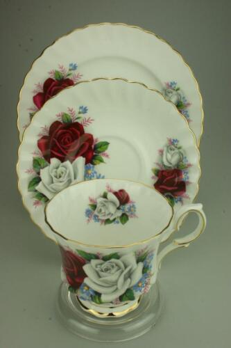 Vintage Queen Anne Trio Cup Saucer & Side Plate Duet Bone China England CS31b
