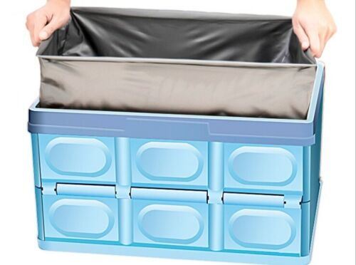 Car multifunctional storage box foldable trunk auto supplies sundries sorting
