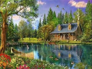 Relaxing Nature 40 x 50 cm Painting By Numbers Kit On Canvas N8