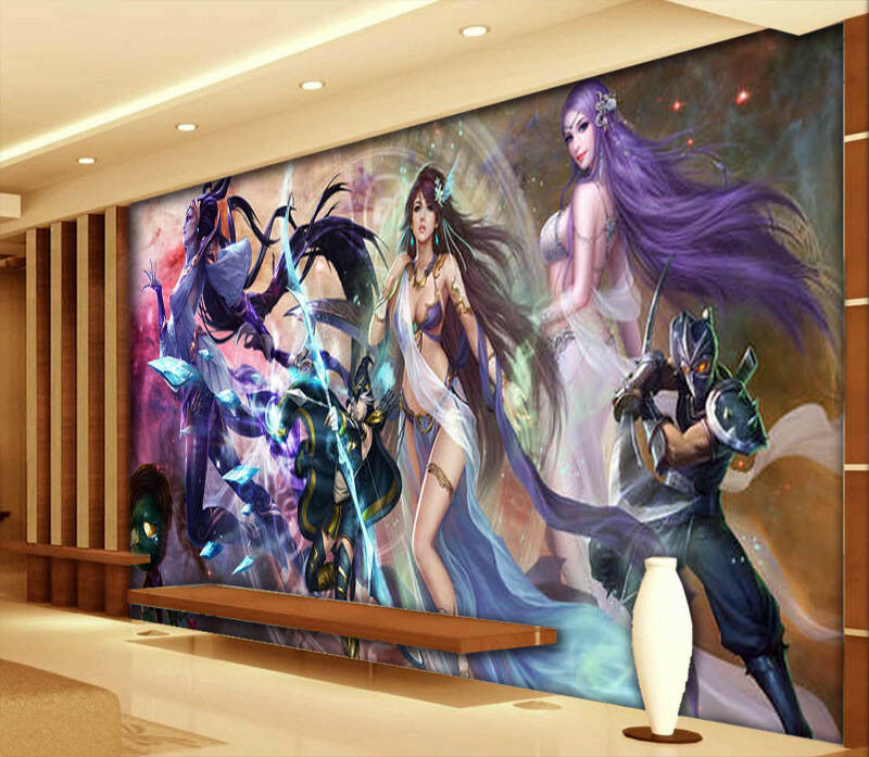 Game Character 3D Full Wall Mural Photo Wallpaper Printing Home Kids Decoration
